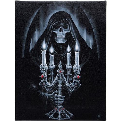 Candelabra (Anne Stokes) Canvas Print 19x25cm