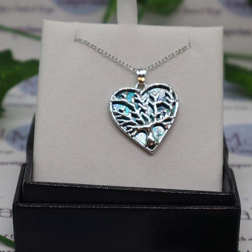 Paua Shell Tree of Life Wild Heart Necklace