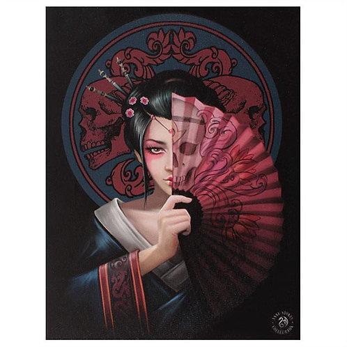Geisha Skull (Anne Stokes) Canvas Print 19x25cm