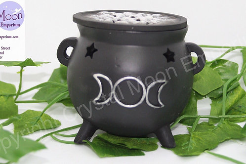 Cauldron Incense Burner Triple Moon