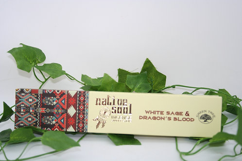 Native Soul White Sage & Dragonsblood Incense Sticks