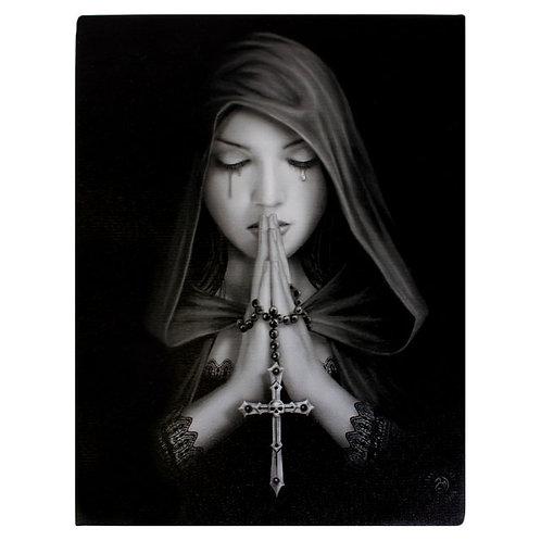 Gothic Prayer (Anne Stokes) Canvas Print 19x25cm