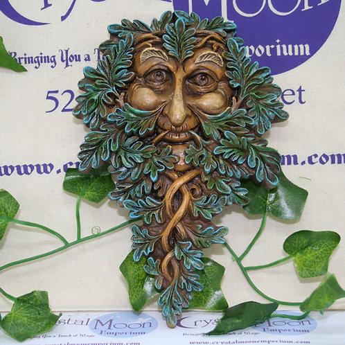 Green Man Leafy Wall Plaque