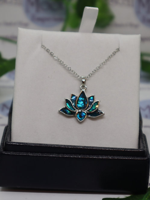 Paua Shell - Lotus Blossom Necklace