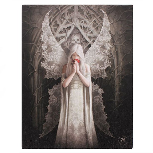 Only Love Remains (Anne Stokes) Canvas Print 19x25cm