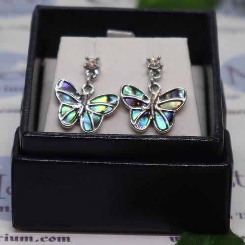 Paua Shell - Butterfly Stud/Drop Earrings