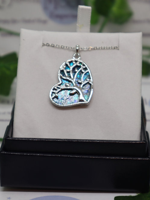 """Paua Shell """"Truly in Love"""" Heart Necklace,"""