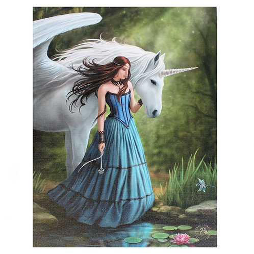 Enchanted Pool (Anne Stokes) Canvas Print 19x25cm