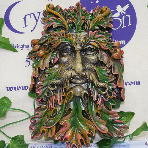 Green Man Face Plaque