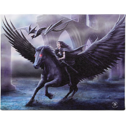 Realm of Darkness (Anne Stokes) Canvas Print 25x19cm