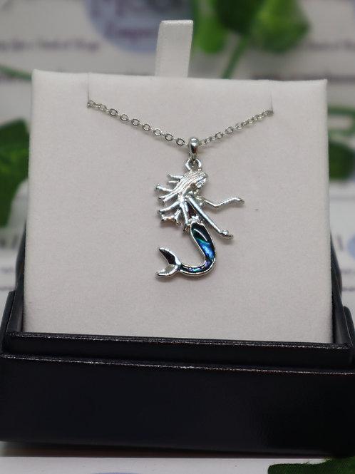 Paua Shell Mermaid Necklace