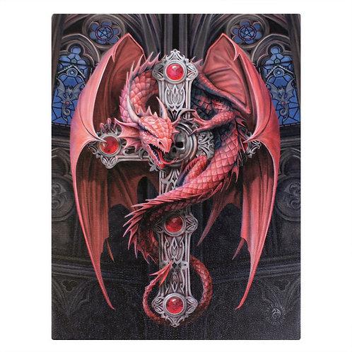 Gothic Guardian (Anne Stokes) Canvas Print 19x25cm