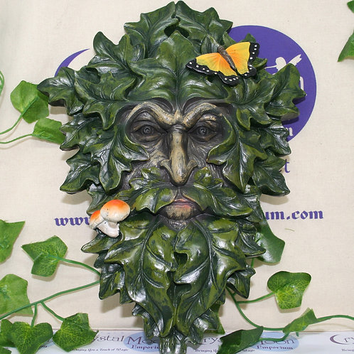 Green Man Leafy Wall Plaque