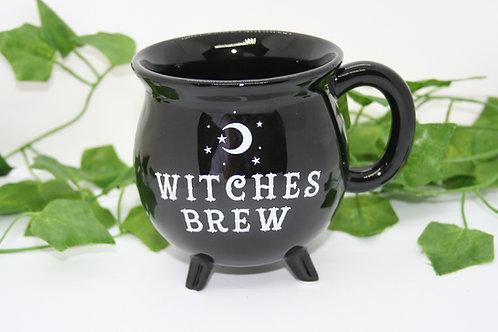 Witches Brew Cauldron Mug with Moon