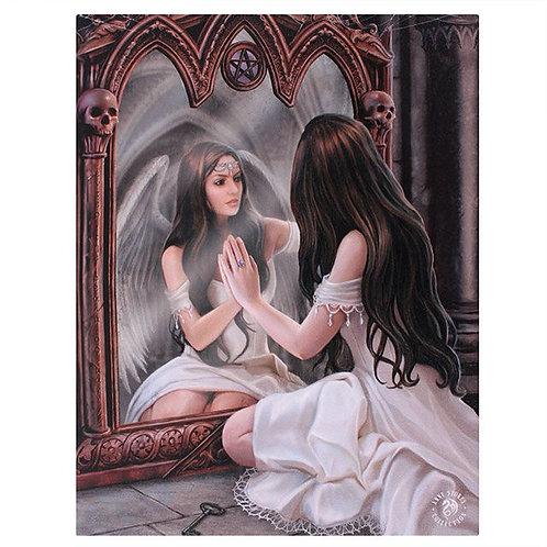Magic Mirror (Anne Stokes) Canvas Print 19x25cm