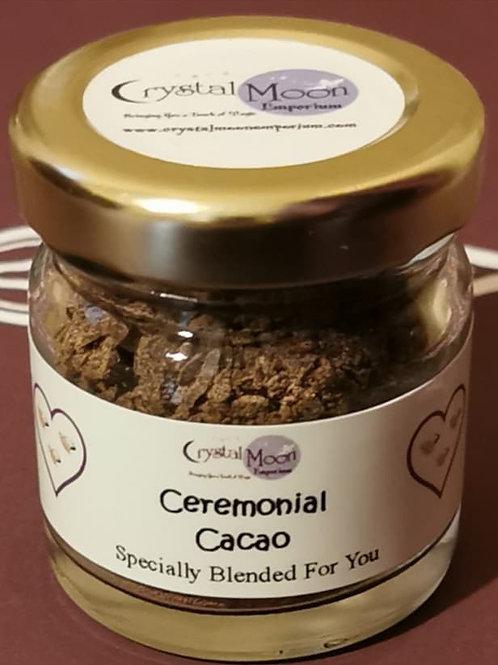 Ceremonial Grade Cacao Single Serving in a 40ml Jar