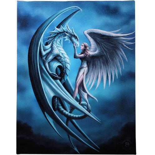 Silver Back (Anne Stokes) Canvas Print 19x25cm