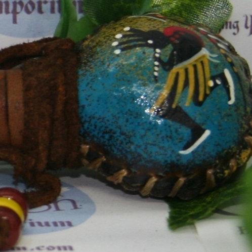 Navajo Painted Kokopelli Rattle