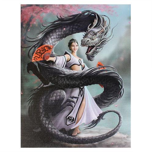 Dragon Dancer (Anne Stokes) Canvas Print 19x25cm