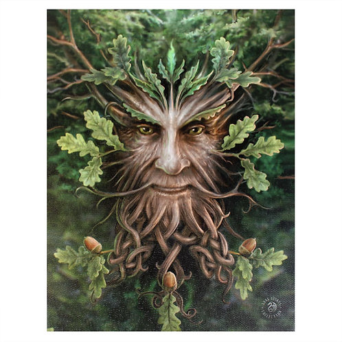 Oak King (Anne Stokes) Canvas Print 19x25cm