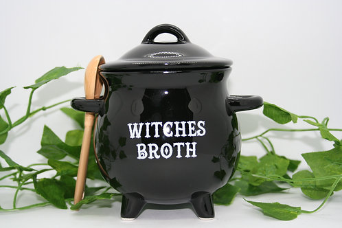 Witches Broth Cauldron with Broom Spoon