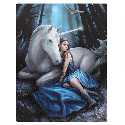 Blue Moon (Anne Stokes) Canvas Print 19x25cm