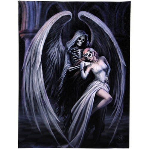 Dancing With Death (Anne Stokes) Canvas Print 19x25cm