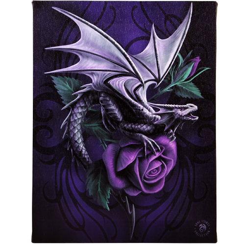 Dragon Beauty (Anne Stokes) Canvas Print 19x25cm
