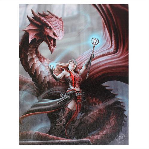 Scarlet Mage (Anne Stokes) Canvas Print 19x25cm