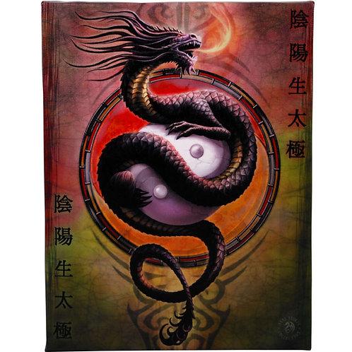 Yin Yang Protector (Anne Stokes) Canvas Print 19x25cm