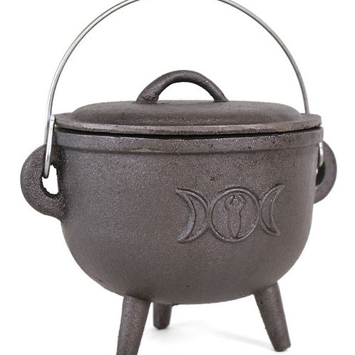 Cauldron with Triple Moon  Large-