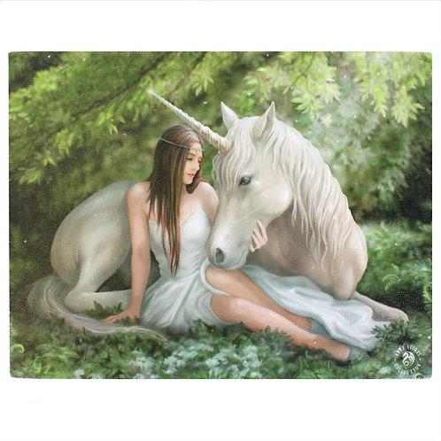 Pure Heart (Anne Stokes) Canvas Print 25x19cm