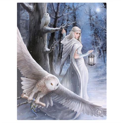 Midnight Messenger (Anne Stokes) Canvas Print 19x25cm