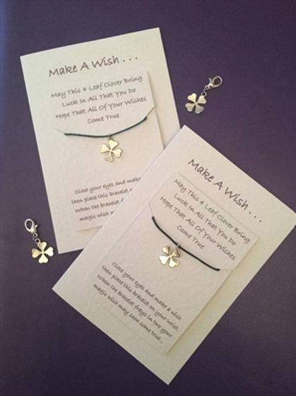 Four Leaf Clover Wish Card Bracelet