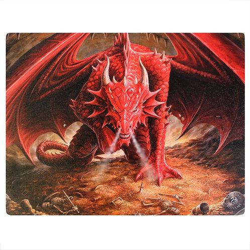 Dragon's Lair (Anne Stokes) Canvas Print 25x19cm
