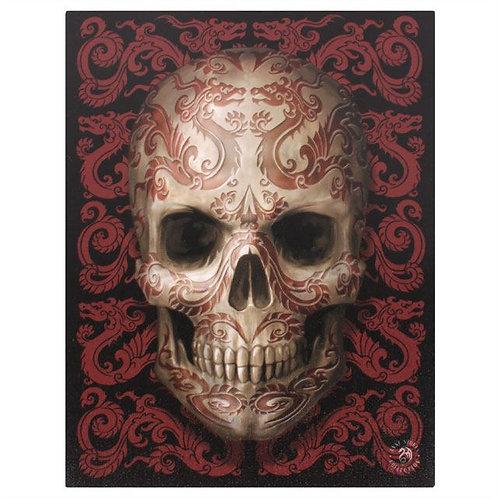Oriental Skull (Anne Stokes) Canvas Print 19x25cm
