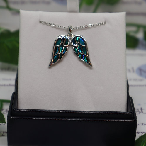 Paua Shell - Angel Wing Necklace