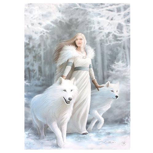 Winter Guardian (Anne Stokes) Canvas Print 19x25cm