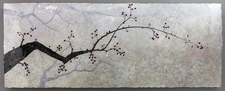 NATURE 4 pearl tree -  single panel