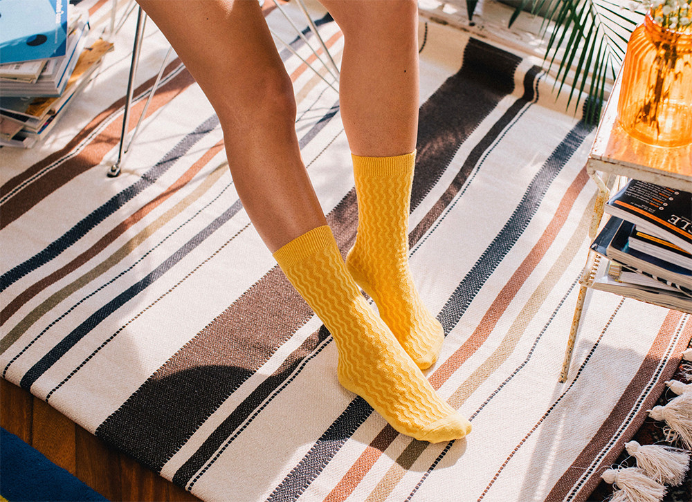 Noodle Socks sind cooler Farbtupfer