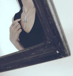 Cross Necklace with Turquoise