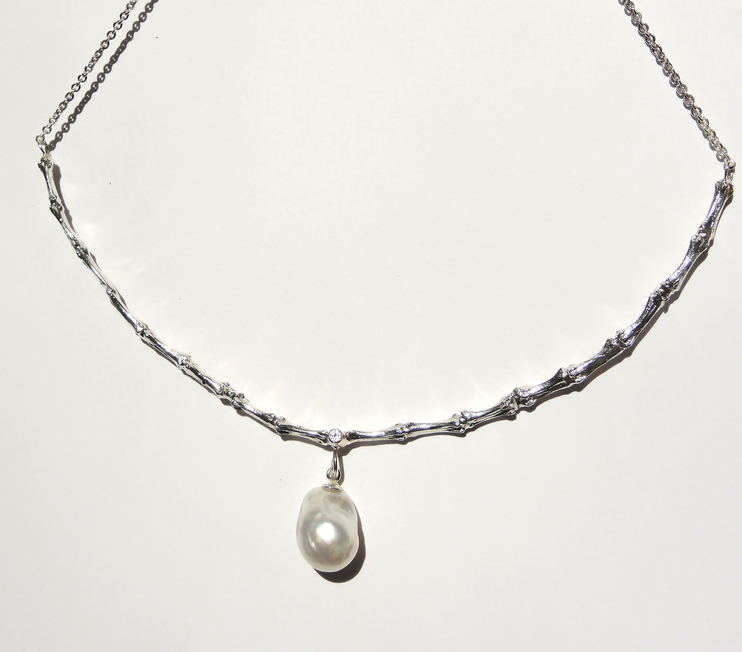 South Sea Pearl Bone Necklace