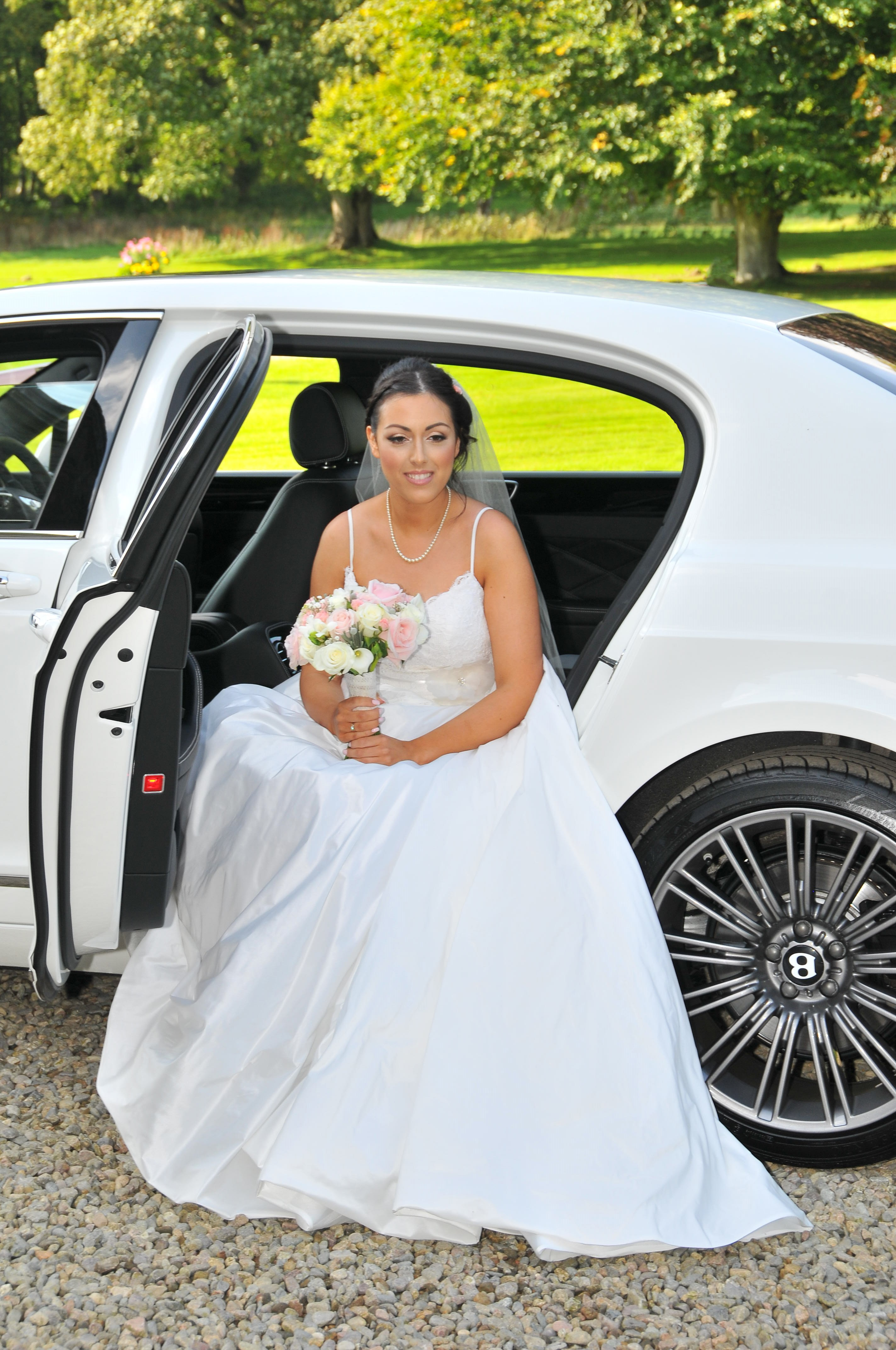 Bride in a Bentley