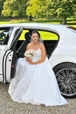 Bride in a Bentley