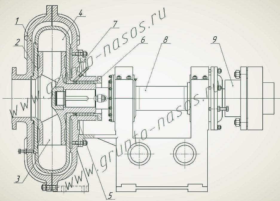 Насос ГрТ 1600 50