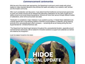 HIDOE Speciate Update: Graduation 2020