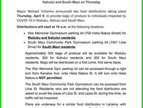 Maui Mayor Announces Food Distributions