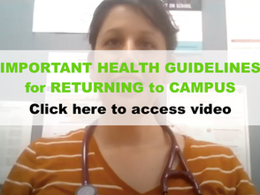 VIDEO: Important Health Guidelines for Returning to Campus