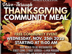 FREE Thanksgiving Meal from UH Maui and the Salvation Army