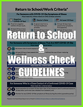 Return to School Work and Daily Wellness